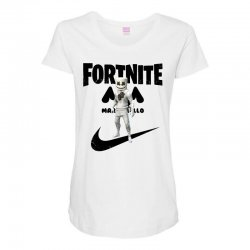 fortnite   marshmello  just play it Maternity Scoop Neck T-shirt | Artistshot