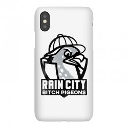 rain city bitch pigeons   black art iPhoneX Case | Artistshot