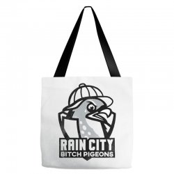 rain city bitch pigeons   black art Tote Bags | Artistshot