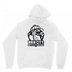 rain city bitch pigeons   black art Unisex Hoodie | Artistshot