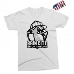 rain city bitch pigeons   black art Exclusive T-shirt | Artistshot