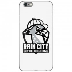 rain city bitch pigeons   black art iPhone 6/6s Case | Artistshot