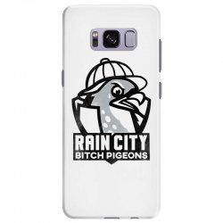 rain city bitch pigeons   black art Samsung Galaxy S8 Plus Case | Artistshot