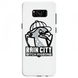 rain city bitch pigeons   black art Samsung Galaxy S8 Case | Artistshot