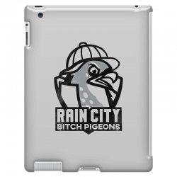 rain city bitch pigeons   black art iPad 3 and 4 Case | Artistshot