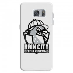rain city bitch pigeons   black art Samsung Galaxy S7 Case | Artistshot