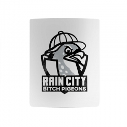 rain city bitch pigeons   black art Mug | Artistshot