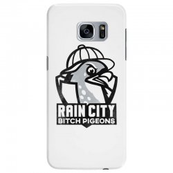 rain city bitch pigeons   black art Samsung Galaxy S7 Edge Case | Artistshot