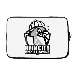 rain city bitch pigeons   black art Laptop sleeve | Artistshot