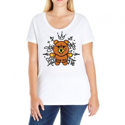 Gangsta Bear Ladies Curvy T-shirt Designed By Bertaria