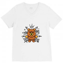 gangsta bear V-Neck Tee | Artistshot