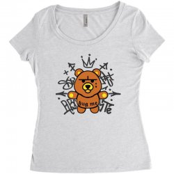 gangsta bear Women's Triblend Scoop T-shirt | Artistshot
