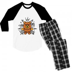 gangsta bear Men's 3/4 Sleeve Pajama Set | Artistshot