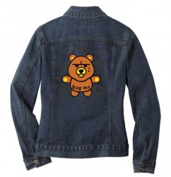 gangsta bear Ladies Denim Jacket | Artistshot