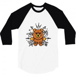 gangsta bear 3/4 Sleeve Shirt | Artistshot