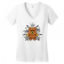 gangsta bear Women's V-Neck T-Shirt | Artistshot