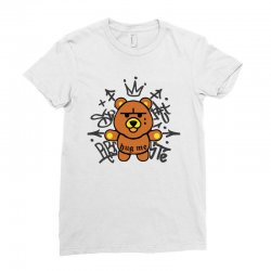 gangsta bear Ladies Fitted T-Shirt | Artistshot