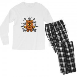 gangsta bear Men's Long Sleeve Pajama Set | Artistshot