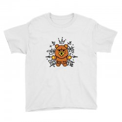 gangsta bear Youth Tee | Artistshot