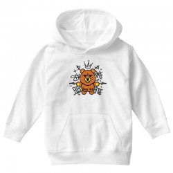 gangsta bear Youth Hoodie | Artistshot