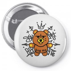 gangsta bear Pin-back button | Artistshot
