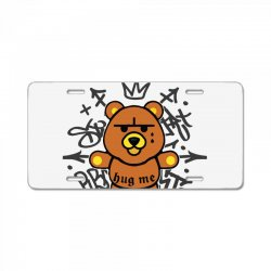 gangsta bear License Plate | Artistshot