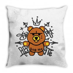 gangsta bear Throw Pillow | Artistshot