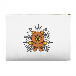 gangsta bear Accessory Pouches | Artistshot