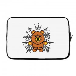 gangsta bear Laptop sleeve | Artistshot