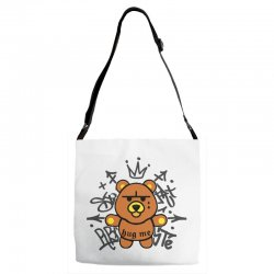 gangsta bear Adjustable Strap Totes | Artistshot