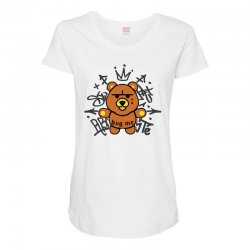 gangsta bear Maternity Scoop Neck T-shirt | Artistshot