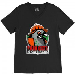 rain city   bitch pigeons V-Neck Tee | Artistshot
