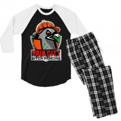 rain city   bitch pigeons Men's 3/4 Sleeve Pajama Set | Artistshot
