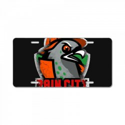 rain city   bitch pigeons License Plate | Artistshot