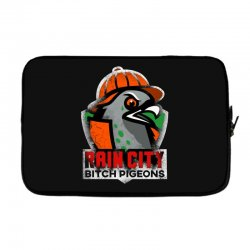 rain city   bitch pigeons Laptop sleeve | Artistshot