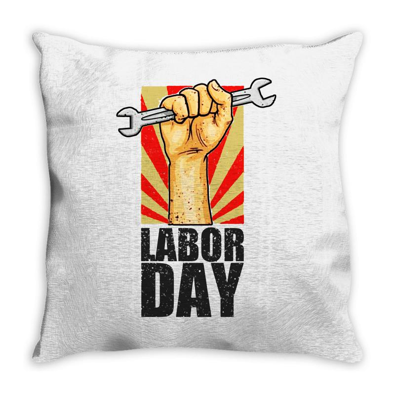 Labor Day Throw Pillow | Artistshot