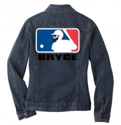 bryce harper Ladies Denim Jacket | Artistshot
