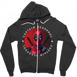 captain deadpool Zipper Hoodie | Artistshot