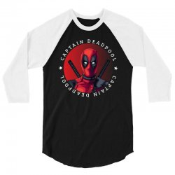 captain deadpool 3/4 Sleeve Shirt | Artistshot