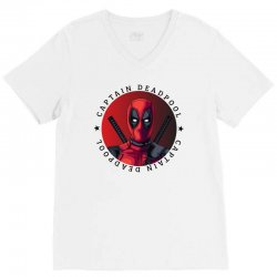 captain deadpool V-Neck Tee | Artistshot
