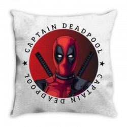 captain deadpool Throw Pillow | Artistshot