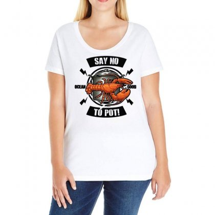 No Pot Ladies Curvy T-shirt Designed By Bertaria