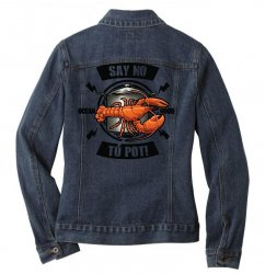 no pot Ladies Denim Jacket | Artistshot