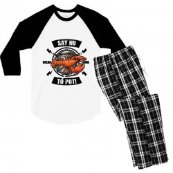 no pot Men's 3/4 Sleeve Pajama Set | Artistshot