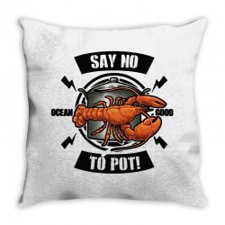 no pot Throw Pillow | Artistshot