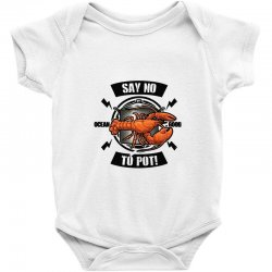 no pot Baby Bodysuit | Artistshot