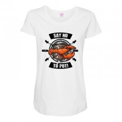 no pot Maternity Scoop Neck T-shirt | Artistshot