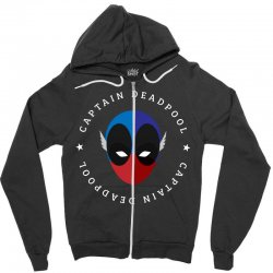 captain deadpool funny Zipper Hoodie | Artistshot