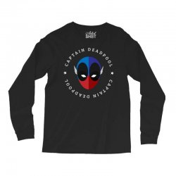 captain deadpool funny Long Sleeve Shirts | Artistshot