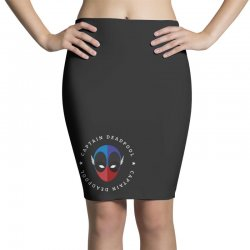 captain deadpool funny Pencil Skirts | Artistshot